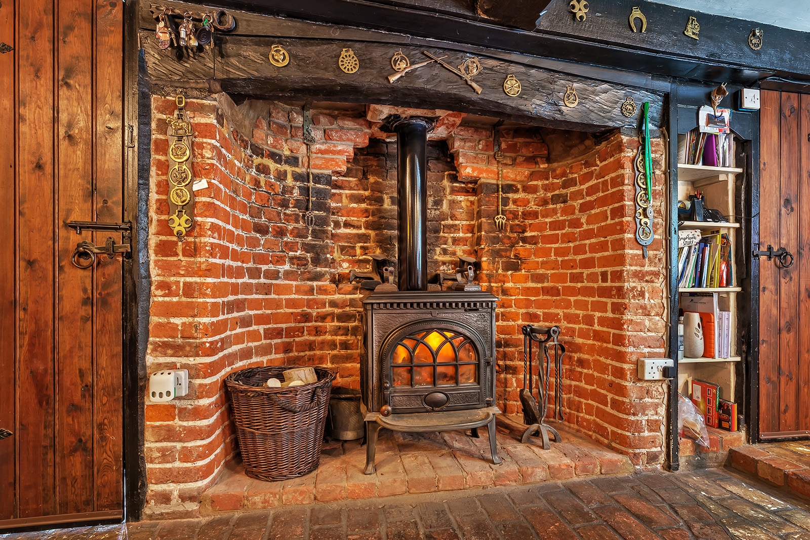 Modernised Medieval fire place